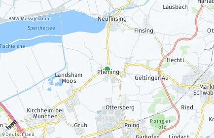 Stadtplan Pliening