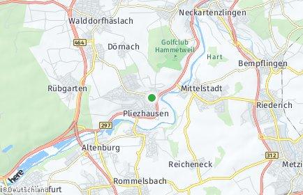 Stadtplan Pliezhausen