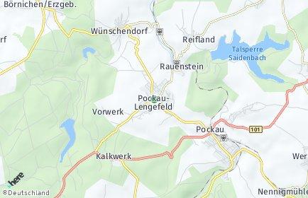 Stadtplan Pockau-Lengefeld