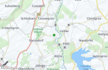 Stadtplan Pöhl