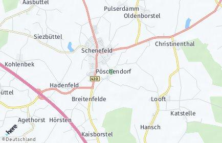 Stadtplan Pöschendorf