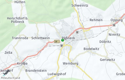 Stadtplan Pößneck