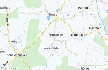 Stadtplan Poggensee