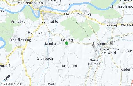 Stadtplan Polling bei Mühldorf am Inn