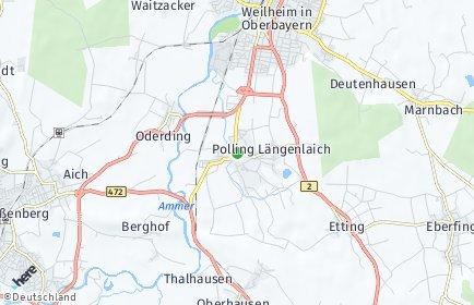 Stadtplan Polling bei Weilheim
