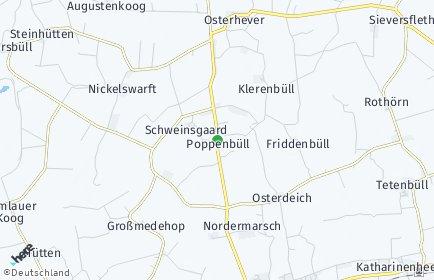 Stadtplan Poppenbüll