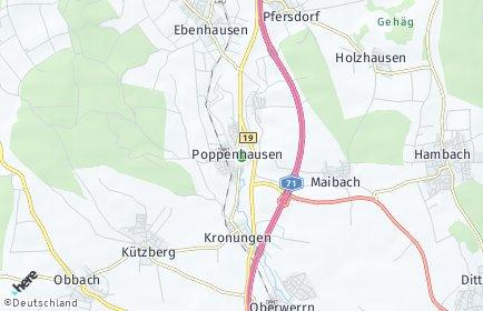 Stadtplan Poppenhausen (Unterfranken)