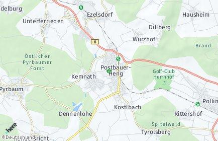 Stadtplan Postbauer-Heng