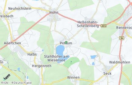 Stadtplan Pottum