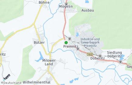Stadtplan Premnitz
