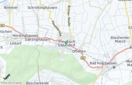 Stadtplan Preußisch Oldendorf