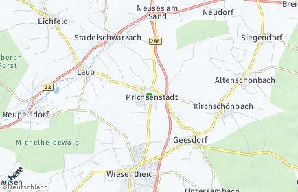 Stadtplan Prichsenstadt