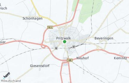 Stadtplan Pritzwalk