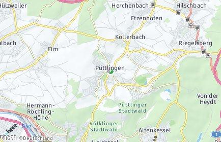 Stadtplan Püttlingen