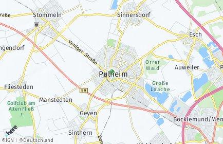 Stadtplan Pulheim OT Dansweiler
