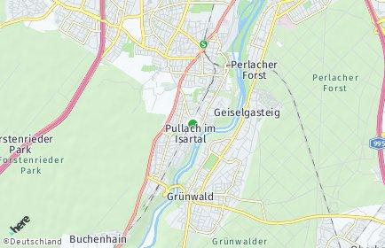Stadtplan Pullach im Isartal