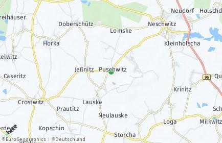 Stadtplan Puschwitz