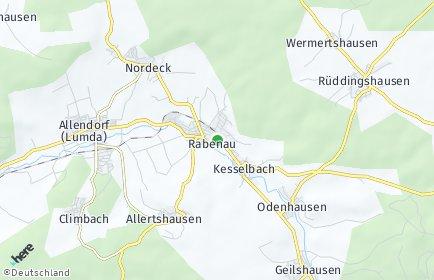 Stadtplan Rabenau (Hessen)