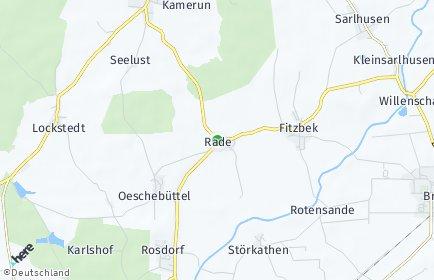 Stadtplan Rade (Steinburg)