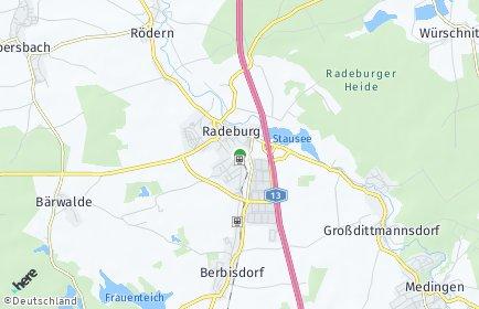 Stadtplan Radeburg
