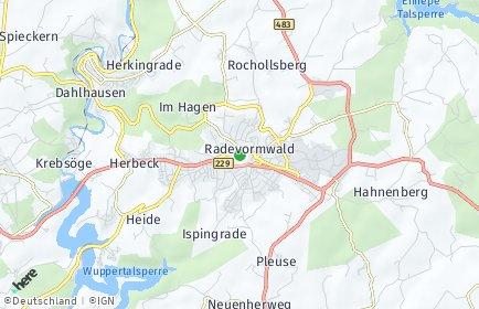 Stadtplan Radevormwald
