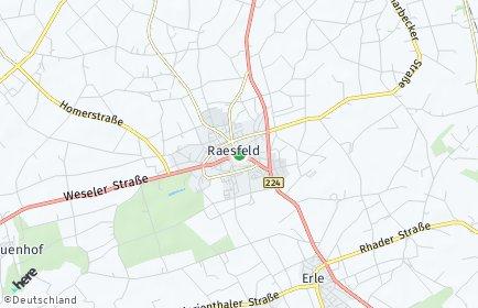 Stadtplan Raesfeld OT Marbeck