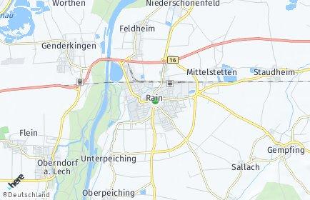 Stadtplan Rain (Lech)