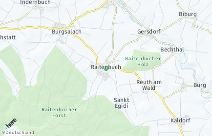 Stadtplan Raitenbuch OT Raitenbuch
