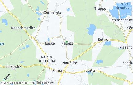 Stadtplan Ralbitz-Rosenthal OT Schönau
