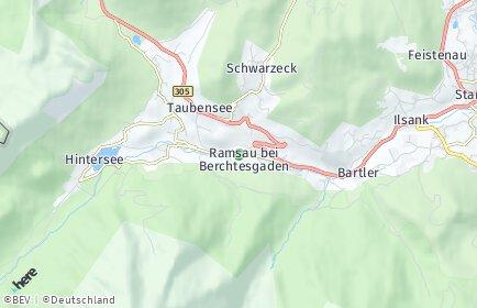Stadtplan Ramsau bei Berchtesgaden