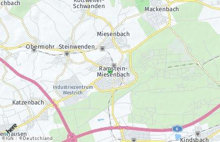 Stadtplan Ramstein-Miesenbach