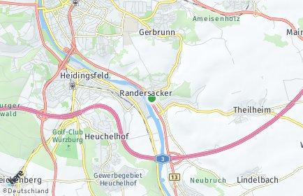 Stadtplan Randersacker