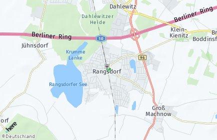 Stadtplan Rangsdorf