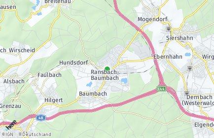 Stadtplan Ransbach-Baumbach