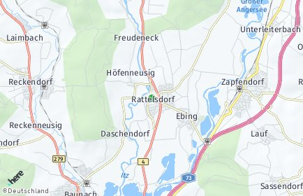 Stadtplan Rattelsdorf OT Höfenneusig