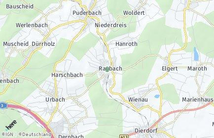 Stadtplan Raubach