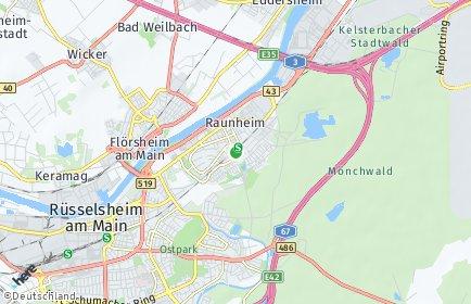 Stadtplan Raunheim