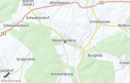 Stadtplan Rauschenberg OT Bracht