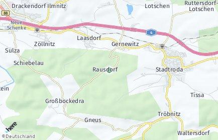 Stadtplan Rausdorf (Thüringen)