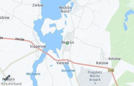Stadtplan Rechlin OT Rechlin Nord