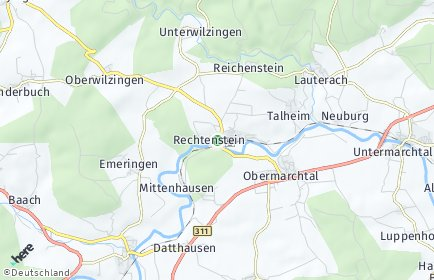 Stadtplan Rechtenstein