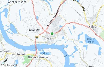 Stadtplan Rees OT Grietherort