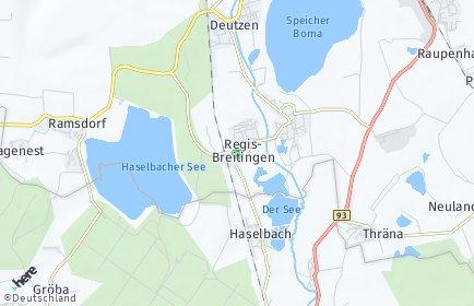 Stadtplan Regis-Breitingen