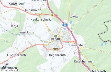 Stadtplan Rehau