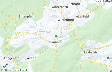 Stadtplan Rehbach bei Sobernheim