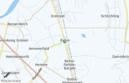 Stadtplan Rehm-Flehde-Bargen