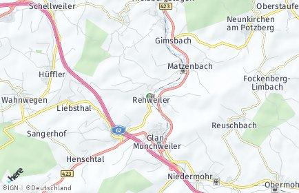 Stadtplan Rehweiler