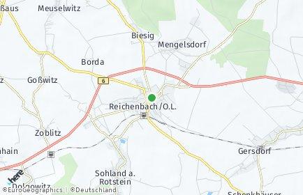 Stadtplan Reichenbach/Oberlausitz OT Dittmannsdorf