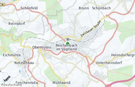 Stadtplan Reichenbach im Vogtland