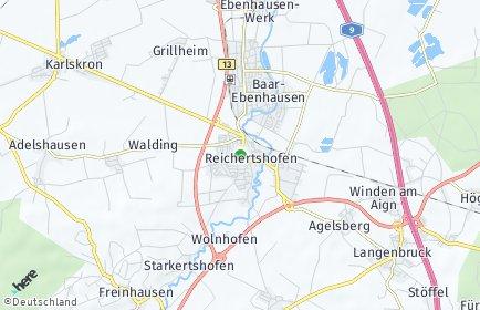 Stadtplan Reichertshofen OT Winden am Aign